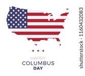 happy columbus day banner... | Shutterstock .eps vector #1160432083