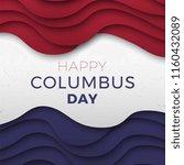 happy columbus day banner...   Shutterstock .eps vector #1160432089