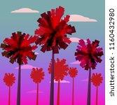 tropical sunrise at seashore ...   Shutterstock .eps vector #1160432980