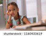 so tired. depressed cheerless... | Shutterstock . vector #1160433619