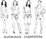 vector drawings on the theme of ... | Shutterstock .eps vector #1160435356