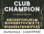 classic vintage decorative font ... | Shutterstock .eps vector #1160439400
