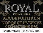 classic vintage decorative font ... | Shutterstock .eps vector #1160439406