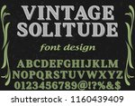 font handcrafted typeface... | Shutterstock .eps vector #1160439409