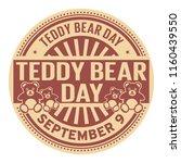 teddy bear day  september 9 ... | Shutterstock .eps vector #1160439550