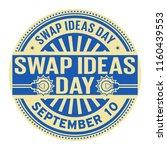 swap ideas day  september 10 ...   Shutterstock .eps vector #1160439553