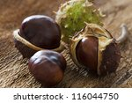 Some Horse Chestnuts On Barks...