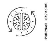 concept of the thinking process ... | Shutterstock .eps vector #1160454286