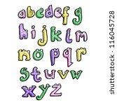 cartoon alphabet   Shutterstock .eps vector #116045728