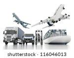 3d world wide cargo transport... | Shutterstock . vector #116046013