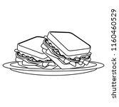 fresh and delicious sandwish | Shutterstock .eps vector #1160460529