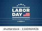 labor day logo background usa   ... | Shutterstock .eps vector #1160464426