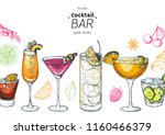 alcoholic cocktails hand drawn... | Shutterstock .eps vector #1160466379