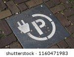 parking sign for electrocar... | Shutterstock . vector #1160471983