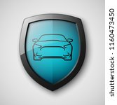 protect car guard shield.... | Shutterstock .eps vector #1160473450