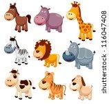 illustration of animals cartoon.... | Shutterstock .eps vector #116047408