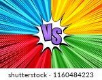 comic duel bright explosive...   Shutterstock .eps vector #1160484223