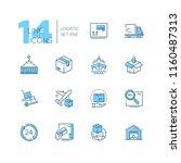 logistics   modern thin line...   Shutterstock .eps vector #1160487313