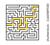 a square abstract labyrinth. an ... | Shutterstock .eps vector #1160489530