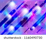 holographic paper cover memphis ... | Shutterstock .eps vector #1160490730