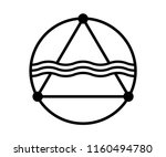 mountain   sea illustration... | Shutterstock .eps vector #1160494780