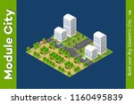 vector isometric urban... | Shutterstock .eps vector #1160495839