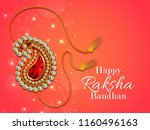 decorated rakhi for indian... | Shutterstock .eps vector #1160496163
