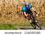athlete on a race cycle | Shutterstock . vector #116050180