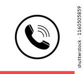 phone vector icon  call symbol. ...