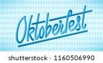 oktoberfest celebration... | Shutterstock .eps vector #1160506990