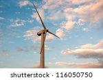 wind generator working on the...   Shutterstock . vector #116050750
