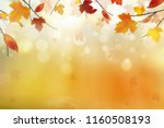 autumn abstract background.... | Shutterstock . vector #1160508193