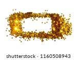 frame with glittering golden... | Shutterstock . vector #1160508943