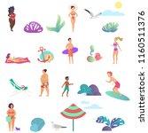 summer people activity in the... | Shutterstock .eps vector #1160511376
