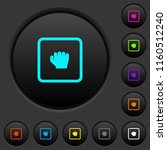 grab object dark push buttons... | Shutterstock .eps vector #1160512240