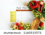 a meal plan for a week on a... | Shutterstock . vector #1160515573