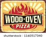 wood oven fired pizza vintage... | Shutterstock .eps vector #1160517340