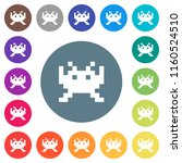 video game flat white icons on... | Shutterstock .eps vector #1160524510