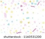 memphis style geometric... | Shutterstock .eps vector #1160531200