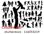 Silhouettes Of Family And...
