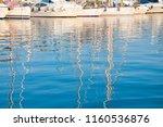 sailboats reflection at sunrise | Shutterstock . vector #1160536876