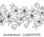 elegant seamless pattern with... | Shutterstock .eps vector #1160537293