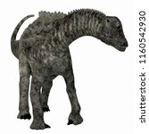 ampelosaurus dinosaur on white... | Shutterstock . vector #1160542930
