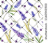 watercolor purple lavender... | Shutterstock . vector #1160543503