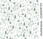 seamless hand drawn christmas... | Shutterstock .eps vector #1160549719