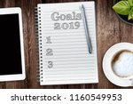 goals in 2019. view from the... | Shutterstock . vector #1160549953