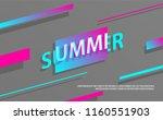 dynamic style retro summer... | Shutterstock .eps vector #1160551903