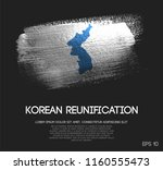 unification flag of korea made... | Shutterstock .eps vector #1160555473