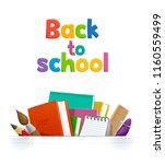 set of different school... | Shutterstock .eps vector #1160559499