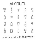 alcohol related vector icon set.... | Shutterstock .eps vector #1160567020